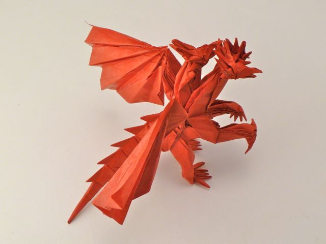How make origami 3-Heads Dragon | How To Make Origami Dragon | 480x640